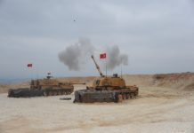Photo released by Turkish Defense Ministry shows Turkish army launches a military operation into northern Syria on the Turkey-Syria border, on Oct. 9, 2019. Turkish Armed Forces on late Wednesday began a land operation into northern Syria against the Syrian Kurdish People's Protection Units (YPG). (Xinhua)