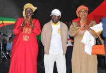 (L-R) - Aminata Touré representative of the government, Diagna Ndiaye President of the Senegal NOC, and Soham Wardini Mayor of Dakar City