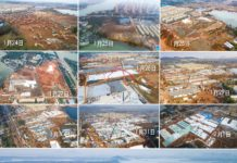 It takes only 10 days to complete the construction of the Huoshenshan Hospital, a makeshift hospital in Wuhan to battle against the novel coronavirus outbreak. Photos by Xiao Yijiu, Xinhua News Agency